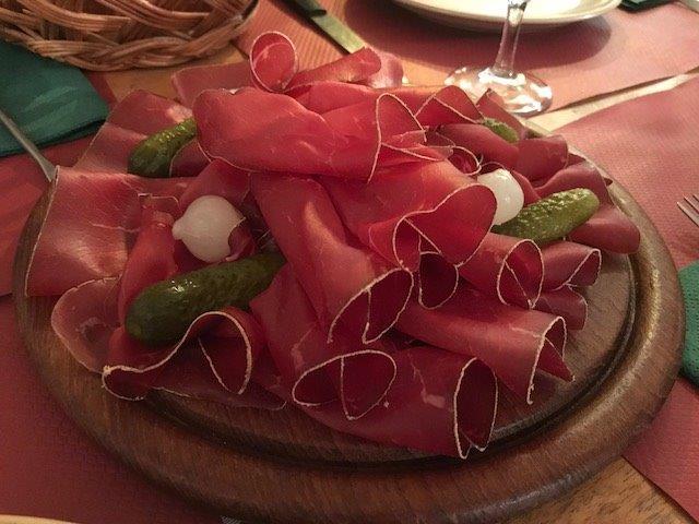 Yummy thin sliced parma ham | Switzerland in Winter