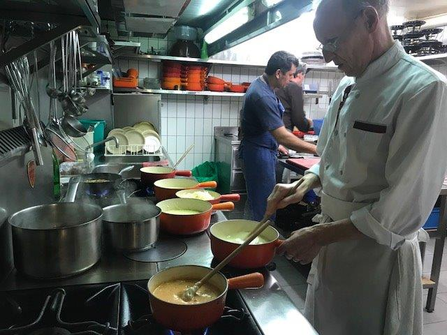 Preparation of the Cheese Fondue