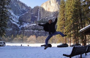 Dad doing jumpshot in Yosemite in 2012. At that age??!! Holidays always consist of a lot