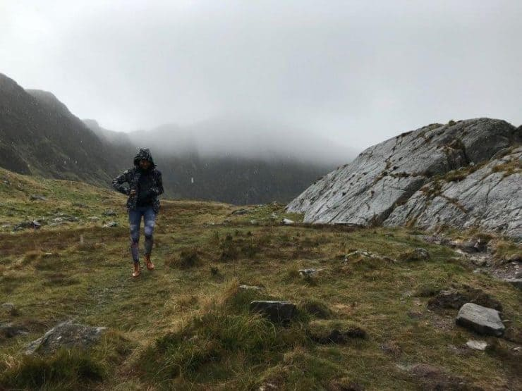 Rain started again here and there and we couldn't stay up there for too long as the fog was fast approaching   Trails in Snowdonia national park