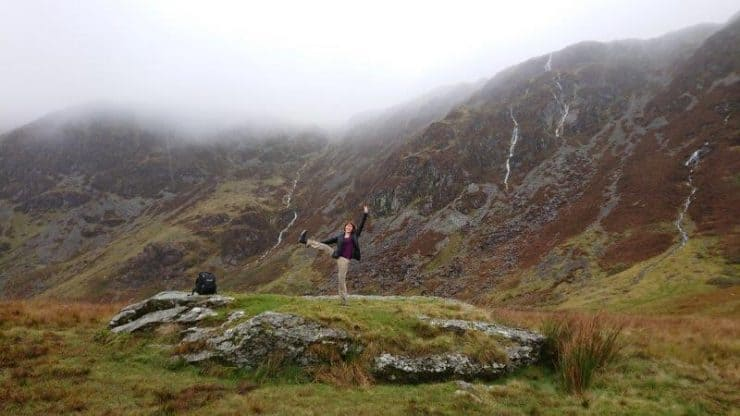 Loving the beauty of Mount Snowdonia. The sepia greenery and mist over the brown ridges and rivers trickling down. Such a stunning sight   Wales Mountain Hiking