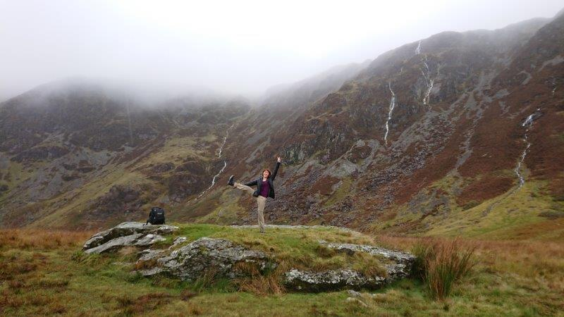 Loving the beauty of Mount Snowdonia. The sepia greenery and mist over the brown ridges and rivers trickling down. Such a stunning sight | Wales Mountain Hiking