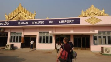 Our grand arrival at Nyaung Ooo Bagan Airport