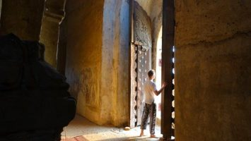 sunlight thru the doorway in Bagan