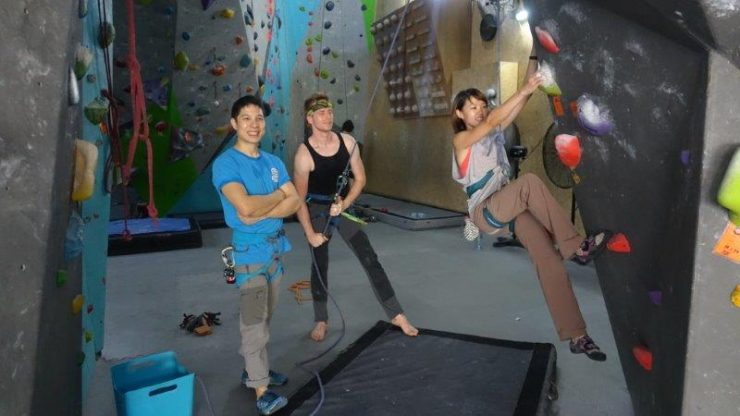 All ready to do some good old lead climbing - Lydia Yang