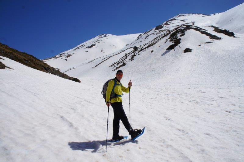Snow shoeing for the 1st time in the majestic Pyrenees mountains lead by our incredible guide Damià from Oxineu Sports and Recreation Centre.