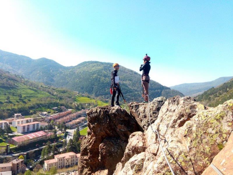 Ribes de Freser Via Ferrata at the top