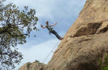 Rock climbing at Solius