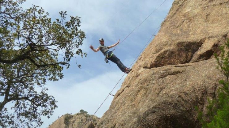 Cez doing his own route setting   Rock climbing at Solius