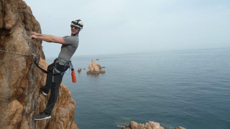 Via Ferrata is different from Rock Climbing