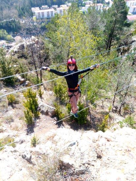 My turn walking the line | Doing Ribes de Freser Via Ferrata