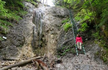 Beholding the lovely waterfalls and metal ladders that cross your path as you enter Slovak Paradise
