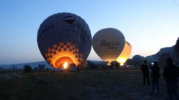 Glowing in the dark | Inflating of the Hot Air Balloons in Cappadocia