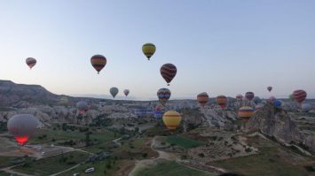 Sunrise View from the top | Incredible weather in Cappadocia
