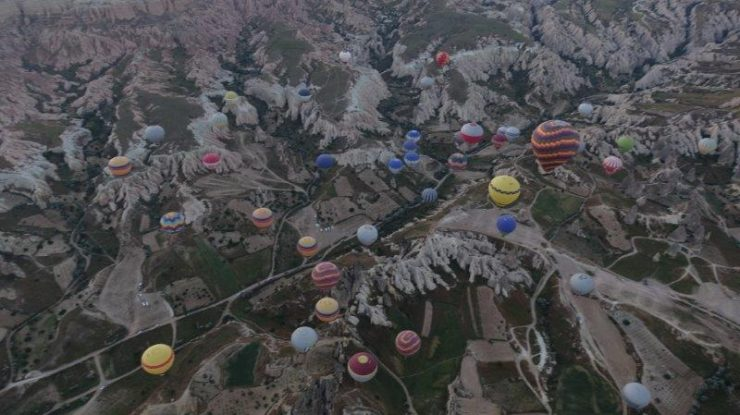 Very very high up the ground and away from all the other balloons. It was frightening at some point of time. But its reassuring to know that they are careful to monitor the Cappadocia weather daily to ensure the wind movement is not too severe