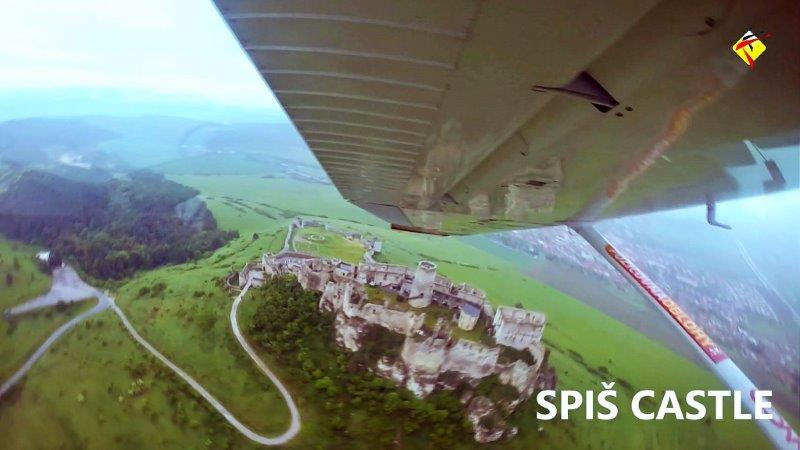 Aerial View of Spis Castle from the scenic plane ride with Compact Skydive | Top Outdoor Things to Do in Kosice Slovakia