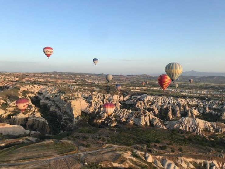 Stunning Colours of the Landscape and Skies of Cappadocia at the break of dawn