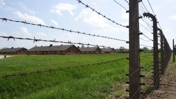 Barbed wire at the Auschwitz camp site. This place had so much horrifying memories that canot go unforgotten