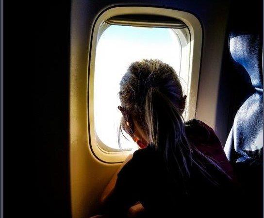 Suffering from sleep in a flight