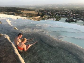 Immerse in the thermal waters and enjoy the sunset | Pamukkale Cotton Castle