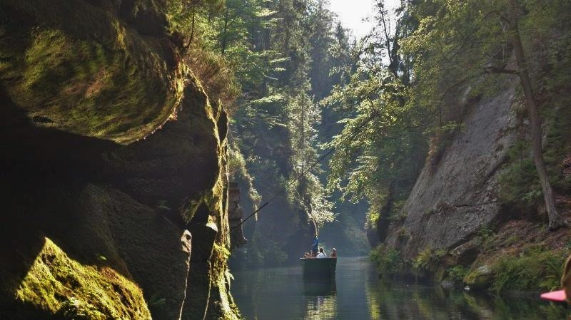 Boat ride at Gorges of Kamenice river