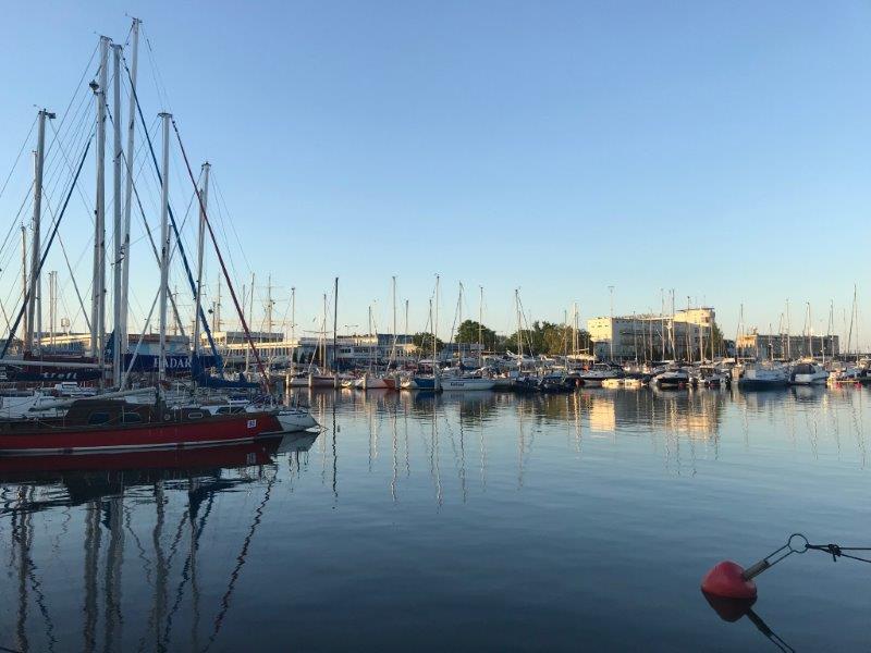 Beautiful Boats and reflections at Sunset   The Pier at Sopot