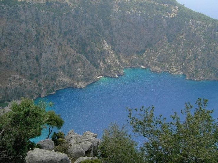 Butterfly Valley Cove   | Butterfly Valley in Fethiye district in the Muğla Province of Turkey