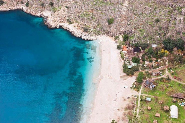 Ariel View of Butterfly Valley   | Butterfly Valley in Fethiye district in the Muğla Province of Turkey