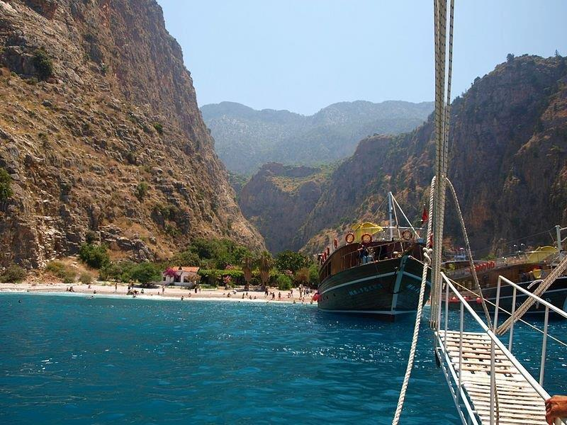 Butterfly Valley Ferry (Source: Wikimedia Commons)