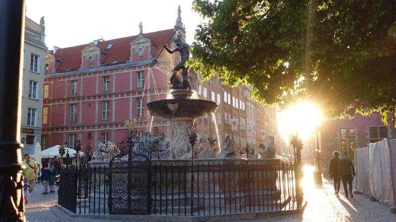 Statue of Neptune at sunset | Explore Gdansk City and Around