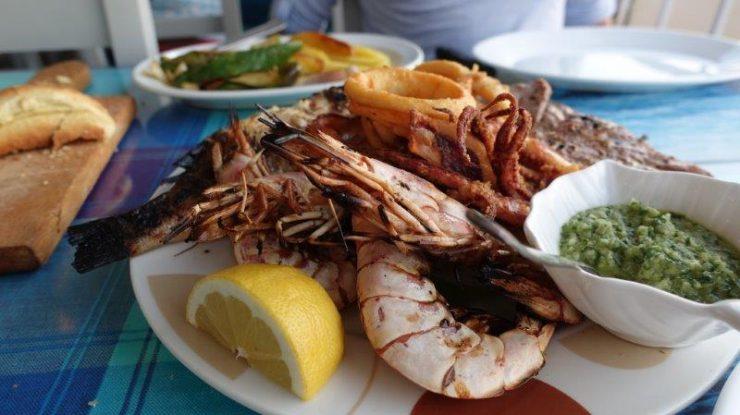 Kalymnos seafood dinner