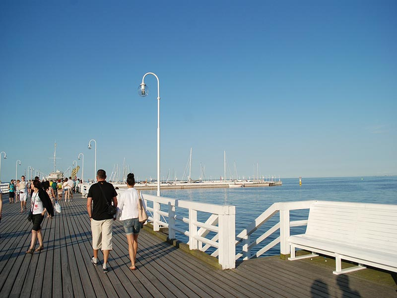 Take nice long strolls at the pier in Sopot