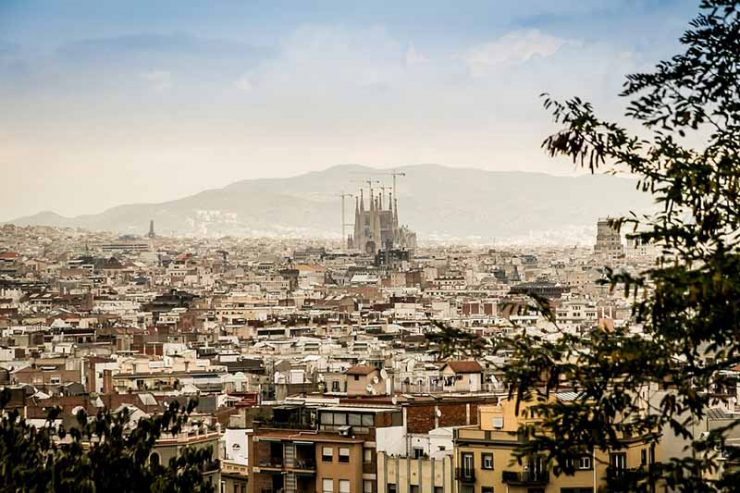 Best Girls Trip Vacations - Panoramic view of Barcelona