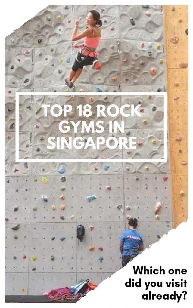 Rock climbing gyms in Singapore