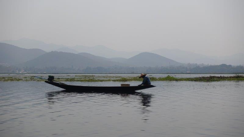 Daily fisherman life in Inle Myanmar