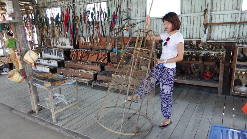 plenty of craft shops at Inle Lake
