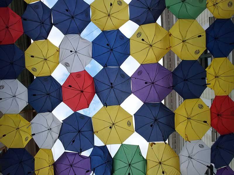 Umbrellas on Alba Iulia Street