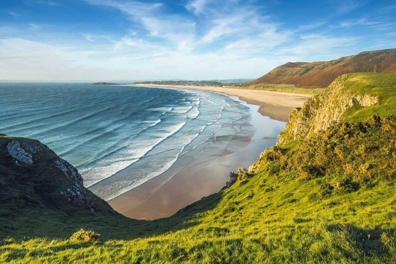 Picturesque beaches await you in Wales