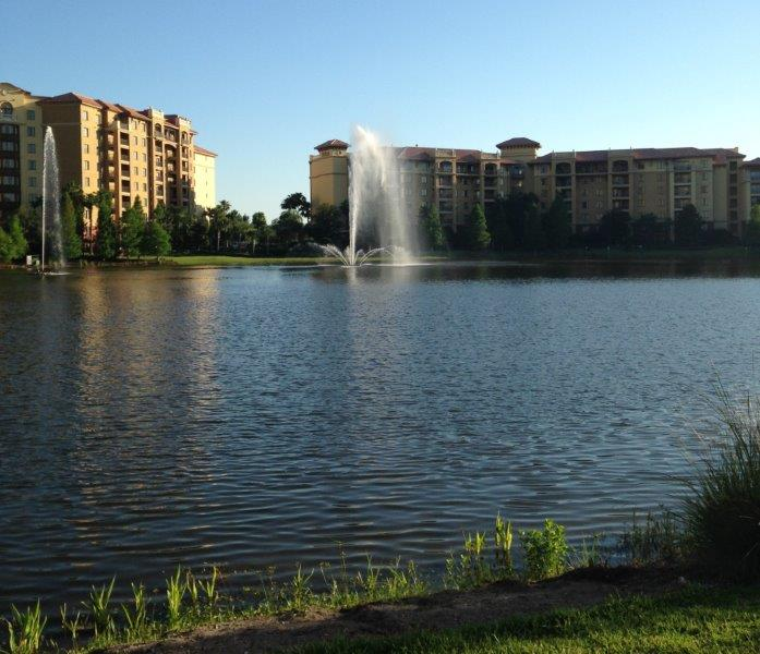 Timeshare resort in Orlando, Florida. It has everything you want for a romantic vacation getaway - from lakes, beaches, hot tubs to pools.