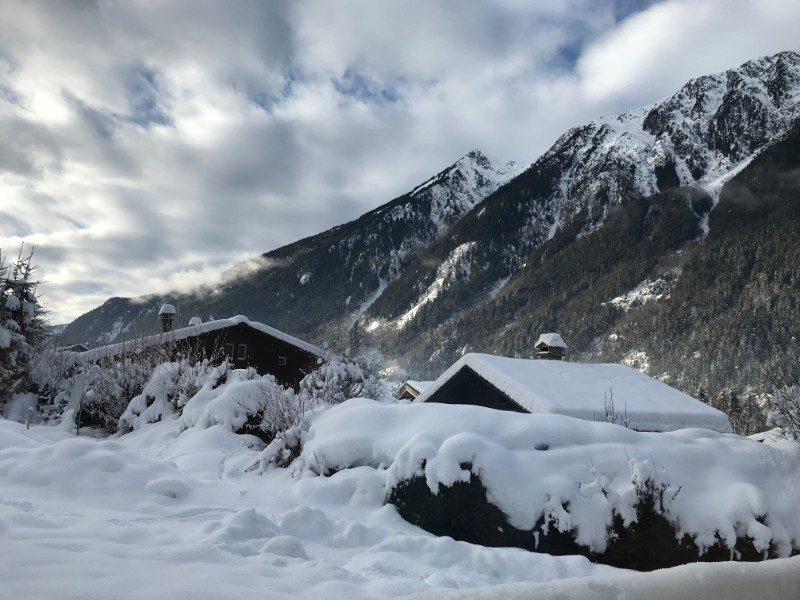 Chamonix valley Mont Blanc France rock climbing