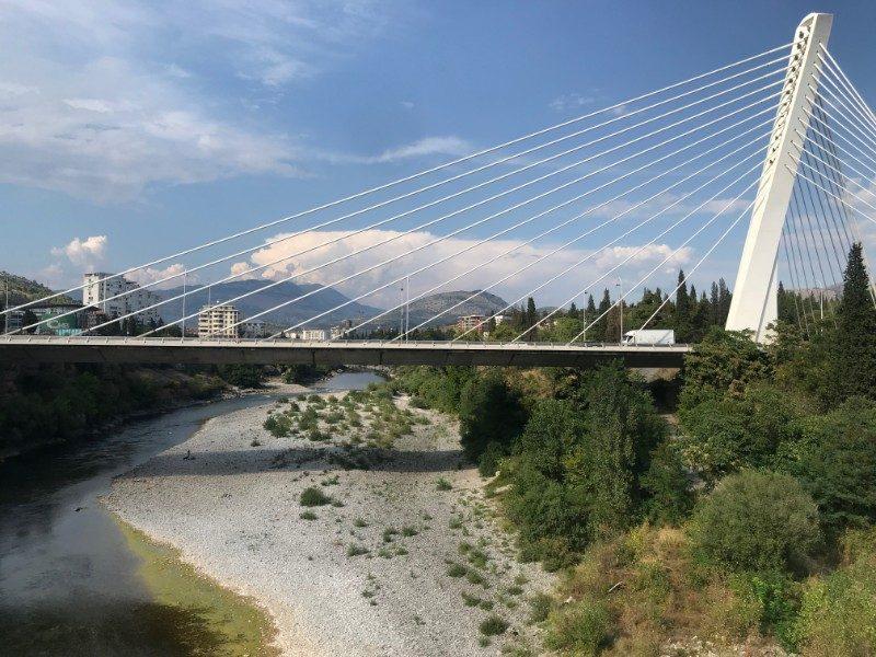 Millennium Bridge Padgorica Montenegro rock climbing
