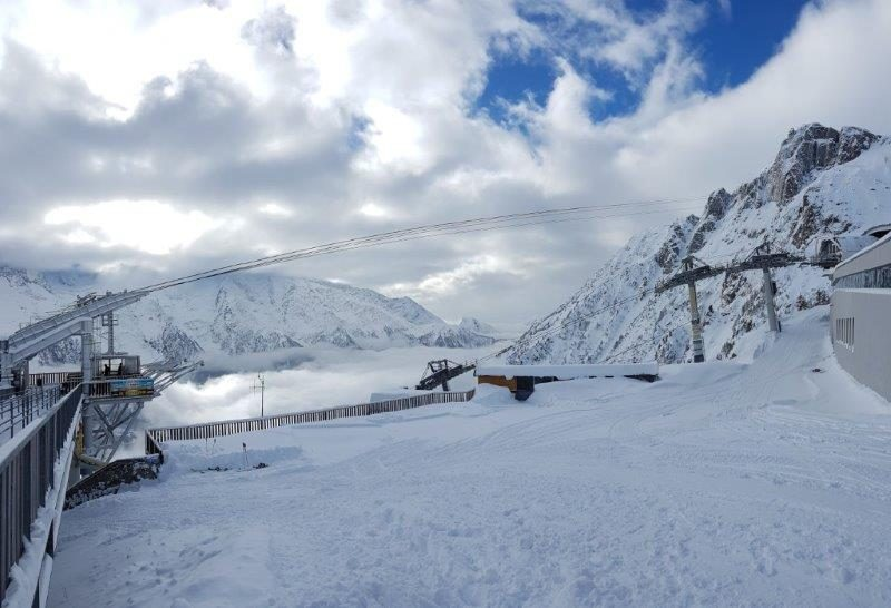 Powdery snow all over the lovely vicinity of Chamonix   Christmas town