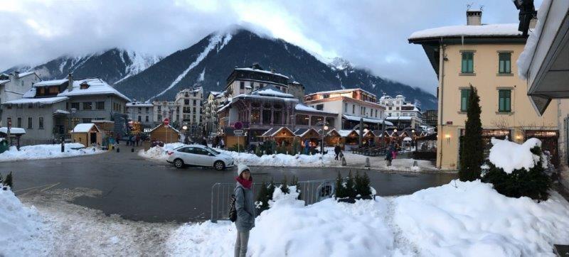 Walking through the beautiful town of Chamonix