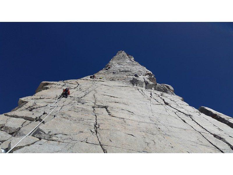 Chamonix Mont Blanc Dent Du Geant rock climbing France