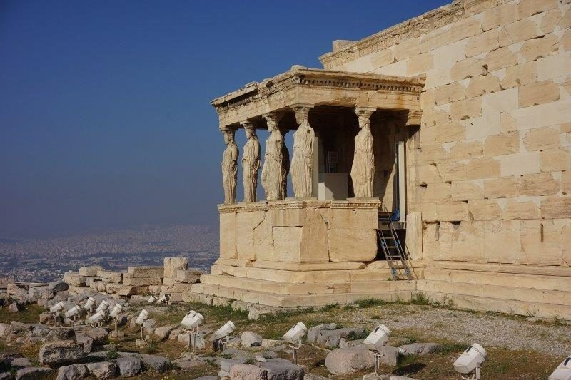 Statues outside the Erechtheion
