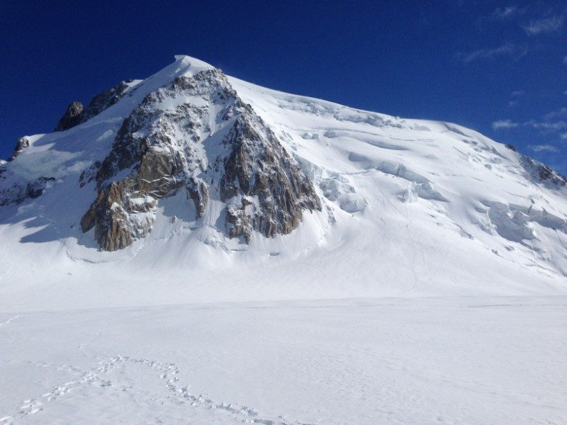 Chamonix Mont Blanc Valley multi-pitch climbing France snow