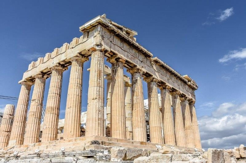 View of the Parthenon