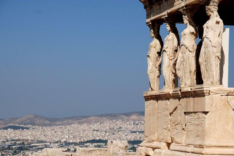More up-close view of the Erechtheion