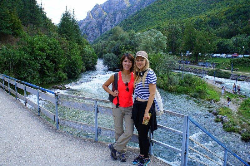 Skopje River Vardar Macedonia