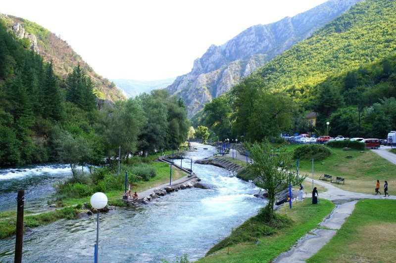 Skopje rivers mountains Vardar River rock climbing hiking